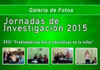 <p>Galer&iacute;a de Fotos - Jornadas de Investigaci&oacute;n 2015</p>