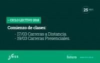 <p>Comienzo del Ciclo Lectivo 2018</p>