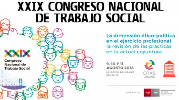 Santa Fe: el ISESS participó del XXIX Congreso Nacional de Trabajo Social
