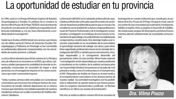 ISESS: la oportunidad de estudiar en tu provincia.