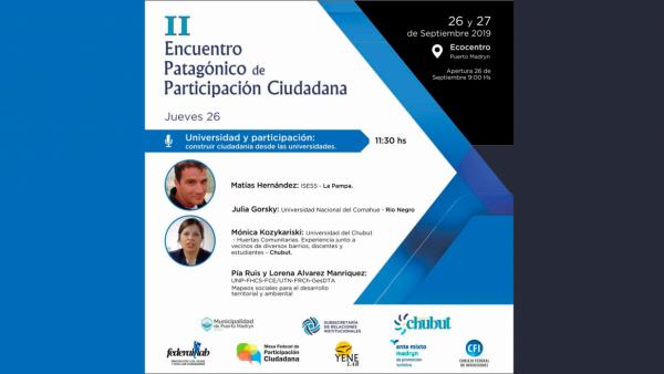 II encuentro Patagónico de participación ciudadana