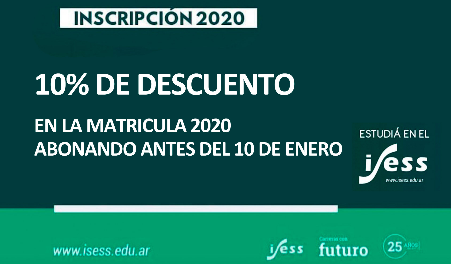 Abiertas las inscripciones 2020!