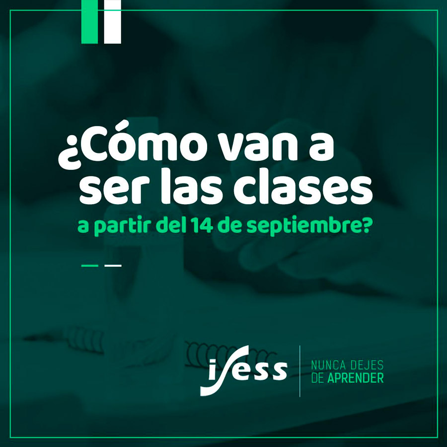 DICTADOS DE CLASES EN EL CONTEXTO DEL COVID-19 A PARTIR DEL 14 DE SEPTIEMBRE